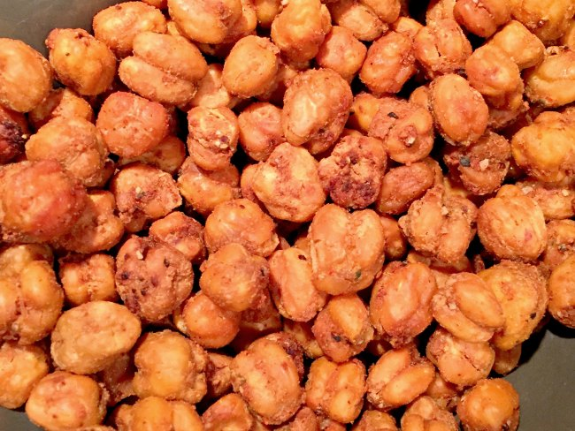 seasoned roasted chickpeas