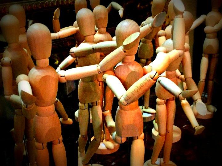 wooden figure models