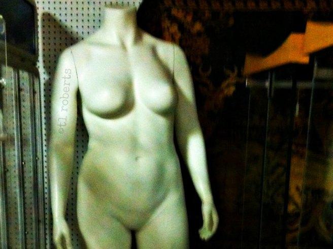 white mannequin