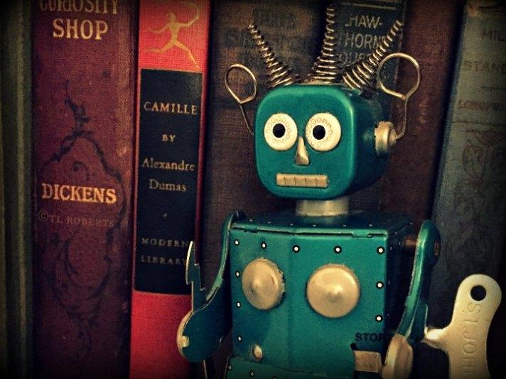 tin toy female robot