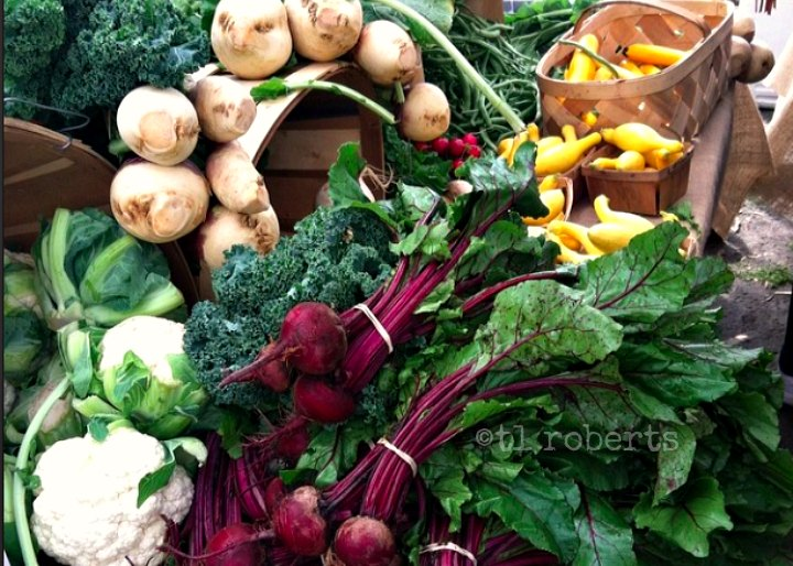 display of fresh produce