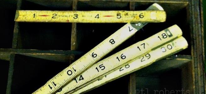 wooden carpentry ruler