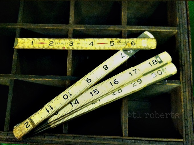 wooden carpentry ruler