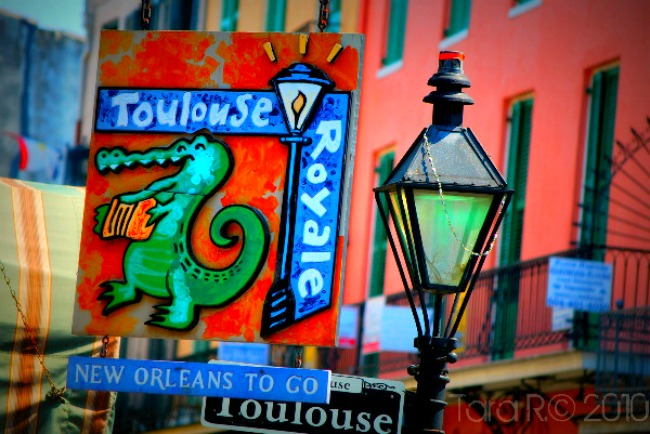 toulouse street sign New Orleans