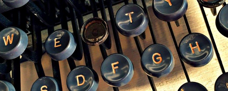vintage typewriter keys