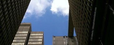 upward view of skyscrapers header