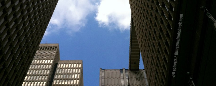 upward view of skyscrapers header