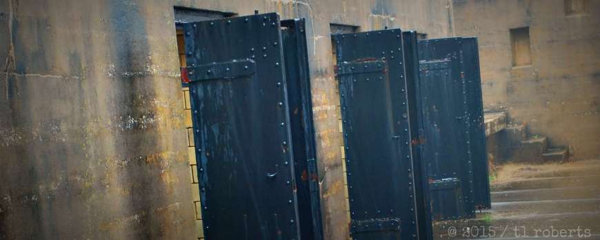 iron doors of old jail