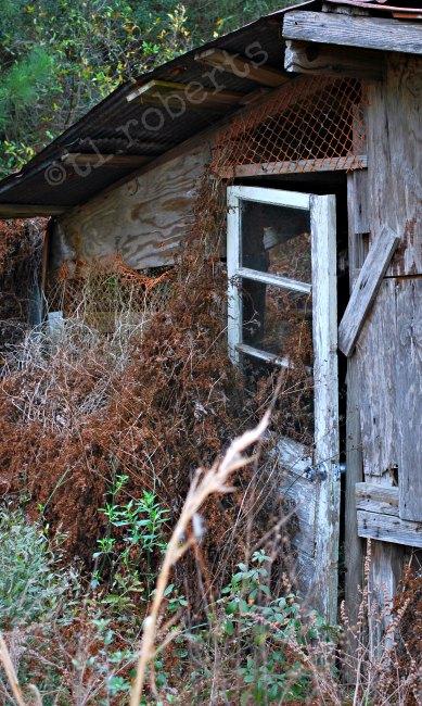 door to abandoned house