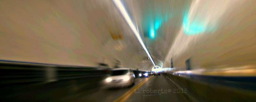 inside interstate tunnel