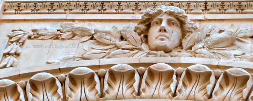 architectural detail of face