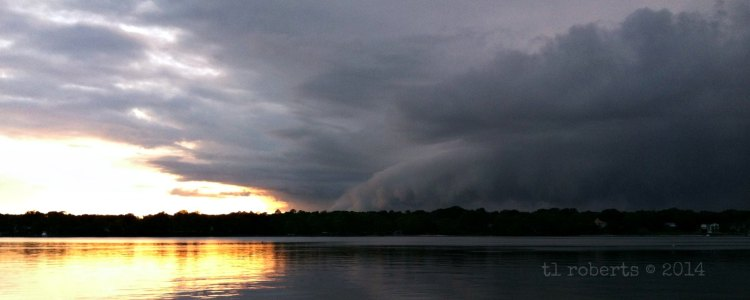 edge of a thunderstorm