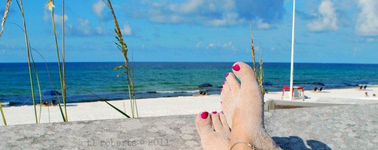 kicking back on the beach