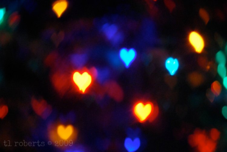 colorful heart shaped booked