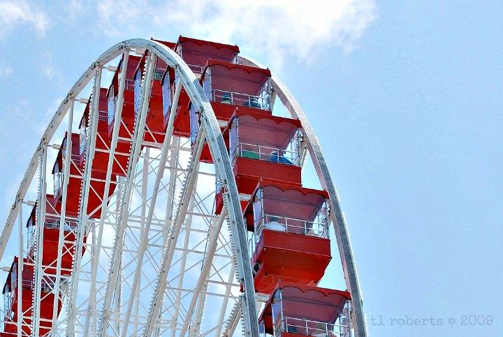 Red ferris wheel