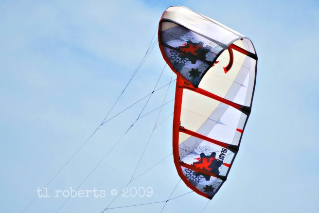 sail kite mid air