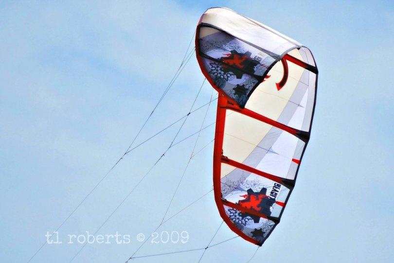 sail kite mid air
