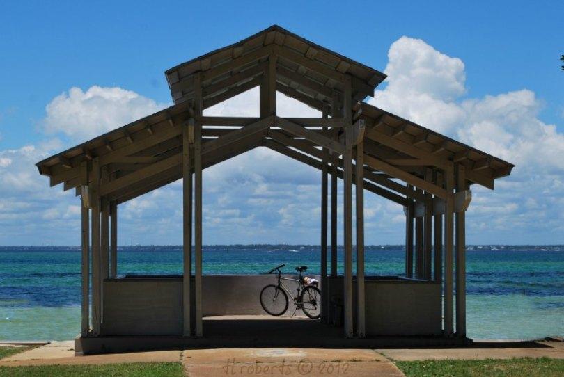 bayside pavilion and bicycle