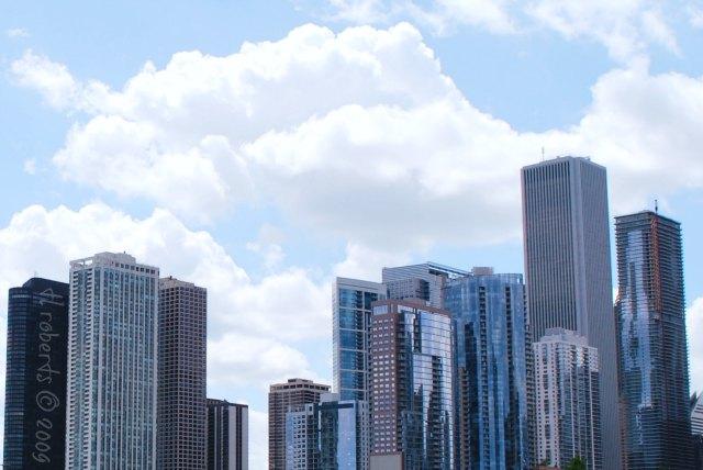 skyline glass skyscrapers