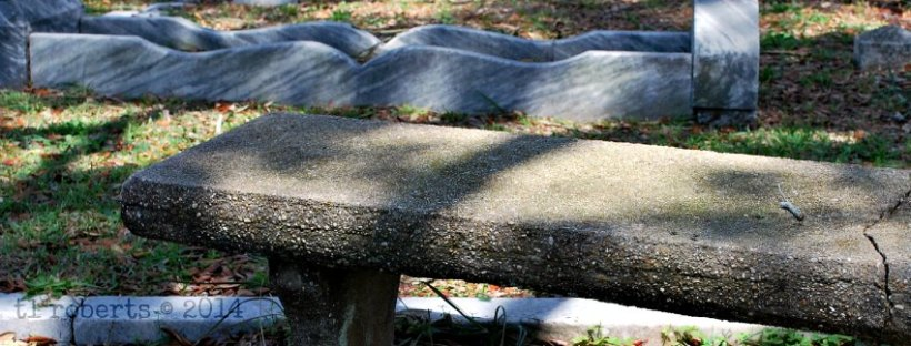 cemetery grief bench