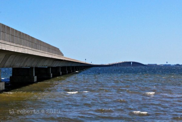 side view of a long bridge