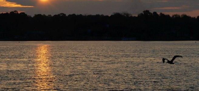 sunrise over water