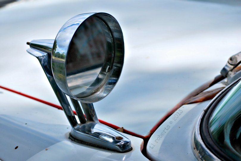 side mirror on 1955 Ford Hairline