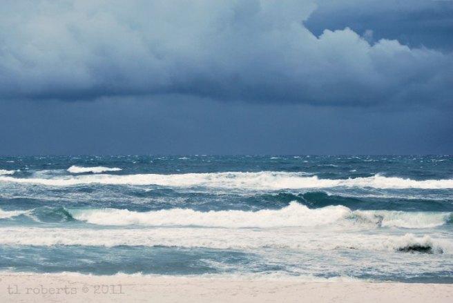 Tropical storm coming ashore