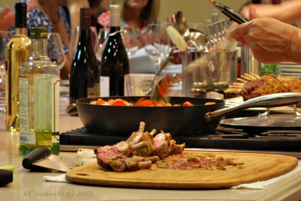 wine dinner table