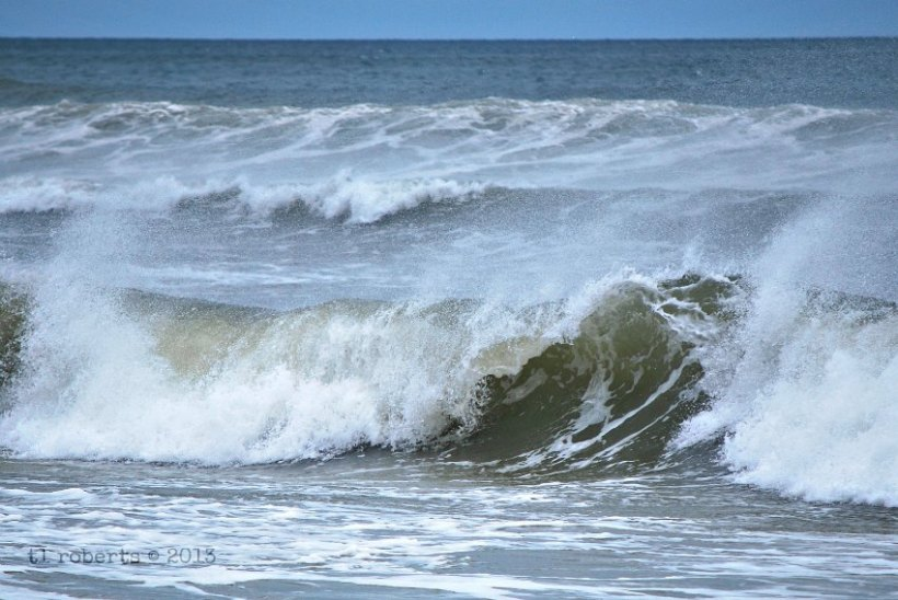 breaking wave during a storm