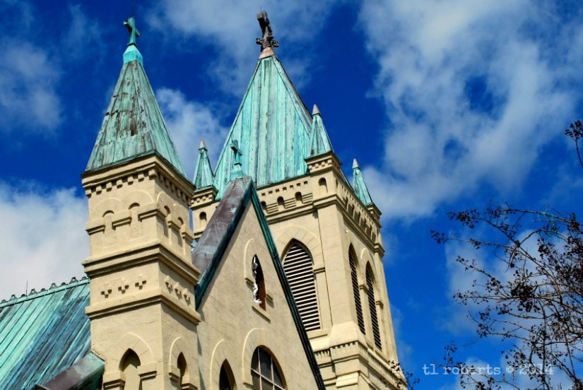 basilica with green copper roof