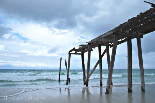 dilapidated ocean pier