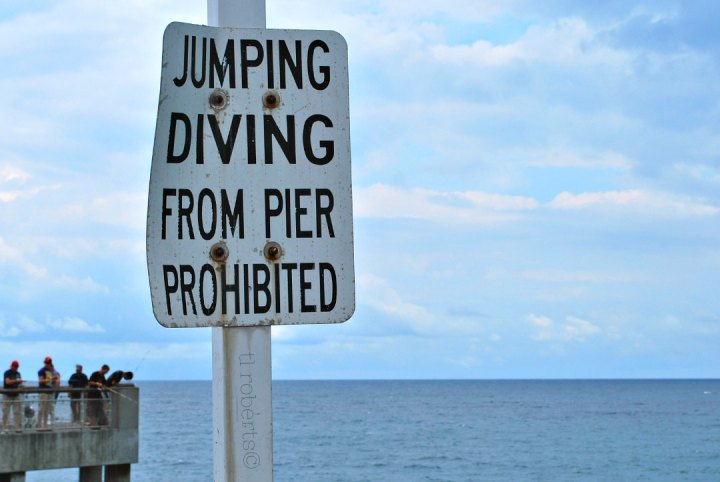 Posted: No diving